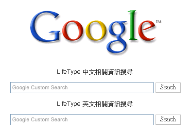 LifeType Google Search